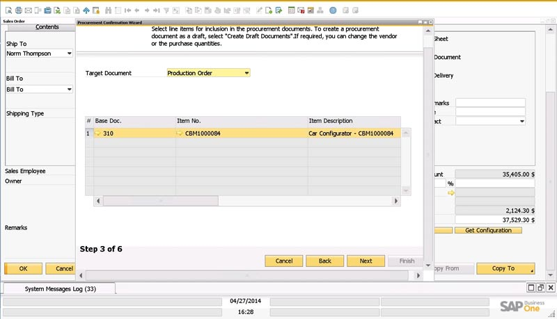 CIS Configurator integration with SAP Business One